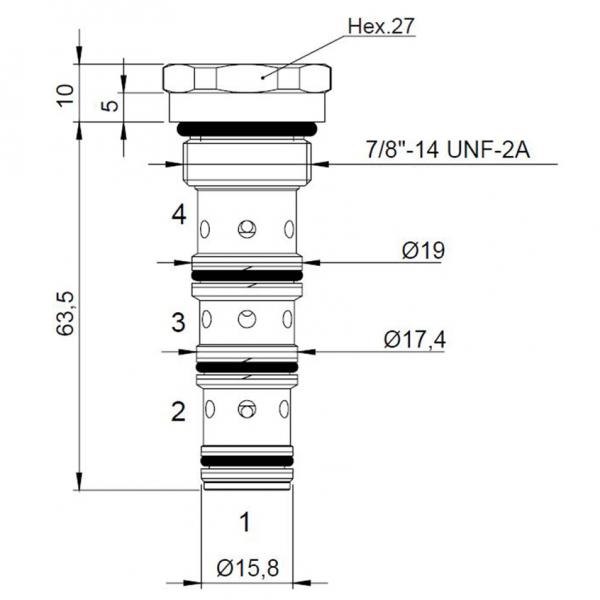 Stromteiler CT-823 doppelt wirkend
