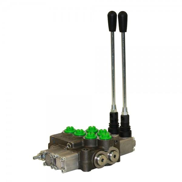 Monoblock 2-fach 45 l/min (manuell) doppelwirkend, federzentriert, Hydrocontrol M45