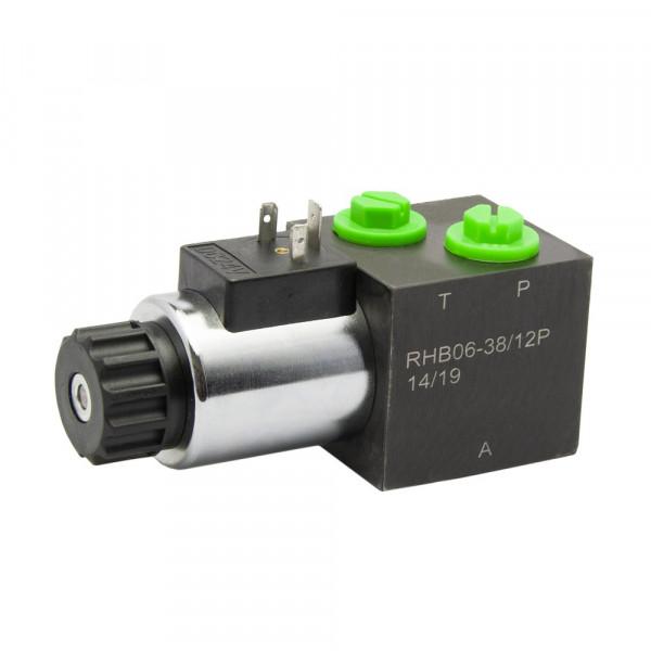 3/2 Wege Umschaltventil   30l/min - 200bar   elektrische Betätigung