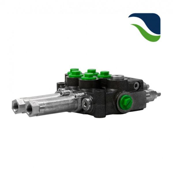Monoblock 2-fach 45 l/min (manuell) Einhebelsteuergerät für Bowdenzug M45 HydroControl