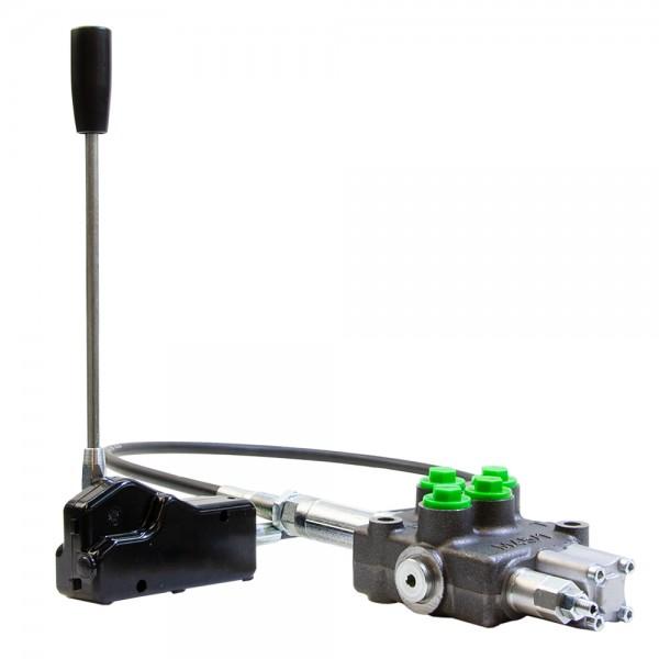Einhebelsteuergerät 1-fach 45 l/min mit Bowdenzug und Linear Bedienhebel, HydroControl