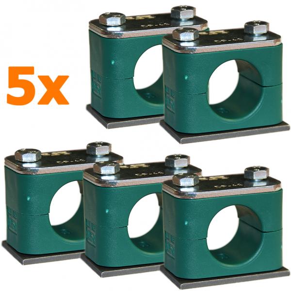 Rohrschelle Serie A glatt (Leichtbauschelle) nach DIN3015 - 5 Stk.-Copy