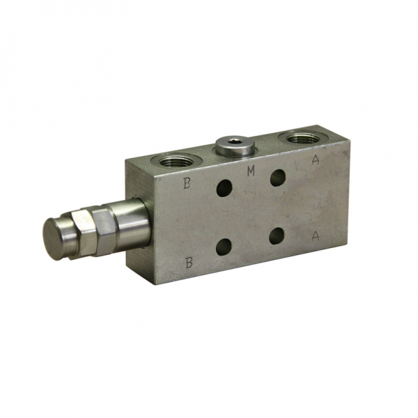 Senkbremsventil einfach - 40l/min, Flanschbauweise 30x30 - NEM LHD03