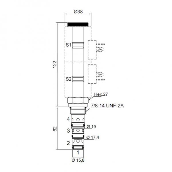 4/3 Wege Proportional Wegeventil, direkt betätigt, 30 l, 250 bar