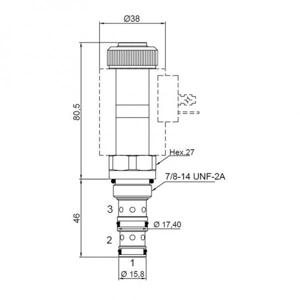 3 Wege Proportional Druckregelventil 30 l/min, 350 bar