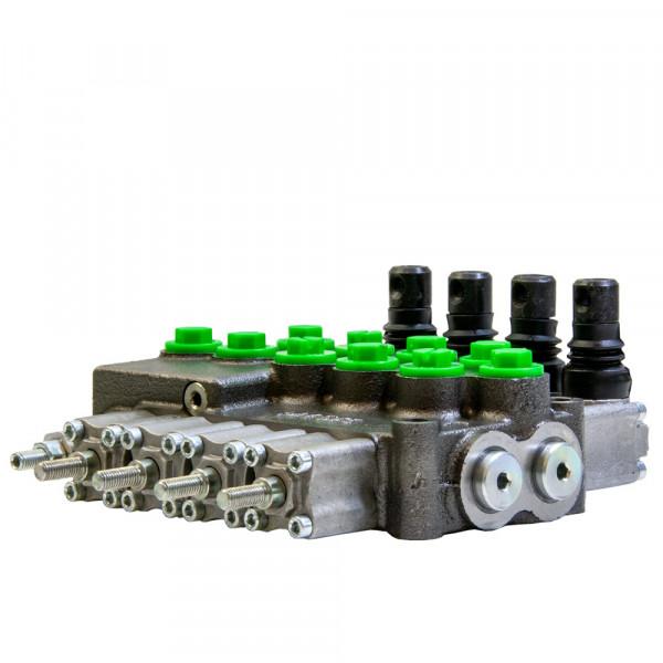 Monoblock 4-fach 45 l/min (manuell) doppelwirkend, federzentriert mit Verlängerung, Hydrocontrol M45