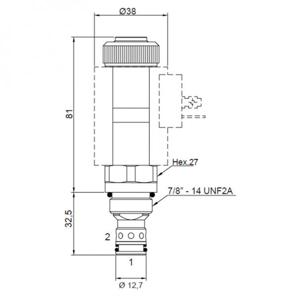 Proportional Druckregelventil 60 l/min, 0 - 350 bar