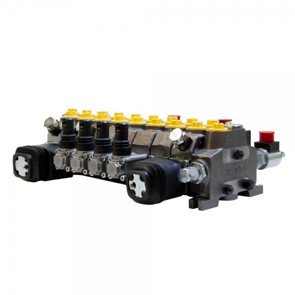 Sektional Wegeventil 8-fach 55l/min (elektrisch/manuell) doppelwirkend, federzentriert, HydroControl