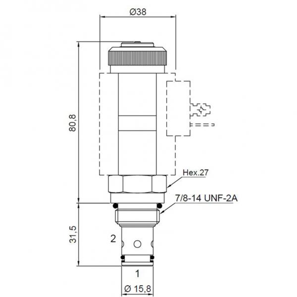 2/2 Wege Sitzventil CT-553 NA Komplett 12V 60/250