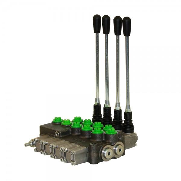Monoblock 4-fach 45 l/min (manuell) doppelwirkend, federzentriert, Hydrocontrol M45