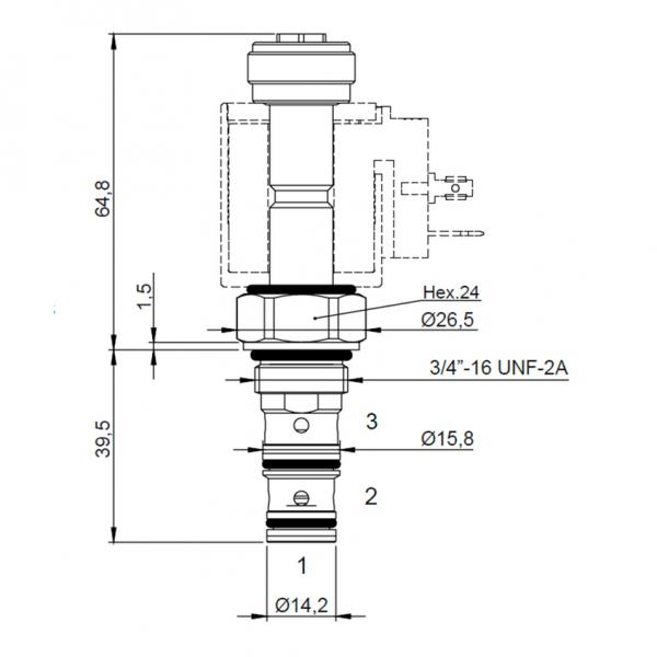 Proportional Druckregelventil 4 l/min, 0 - 30 bar