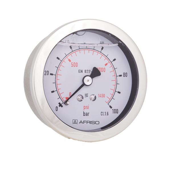 Rohrfeder Glyzerinmanometer Ø 63, Anschluss axial