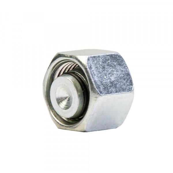 Verschlusskegel mit O-Ring und Überwurfmutter, VKA, 25 S, M36x2 mm