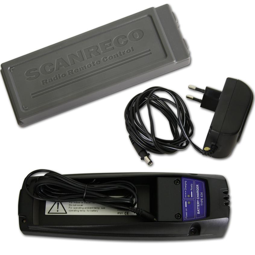 scanreco batterieladeger t typ 435 mit 230 v und akku typ 592. Black Bedroom Furniture Sets. Home Design Ideas